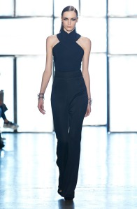 black cross jumpsuit