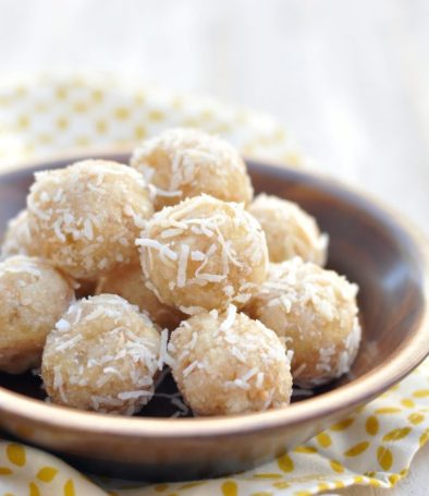 coconut pineapple energy bites via creative juice