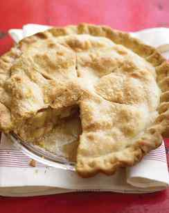 traditional apple pie via martha stewart