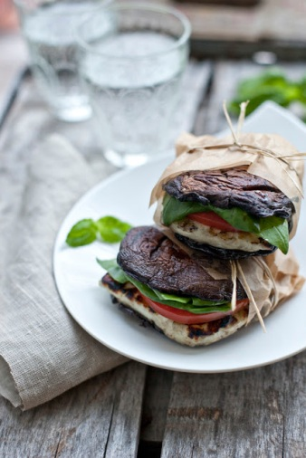 "Portabella Mushroom and Halloumi ""Burger"" via the mushroom channel"