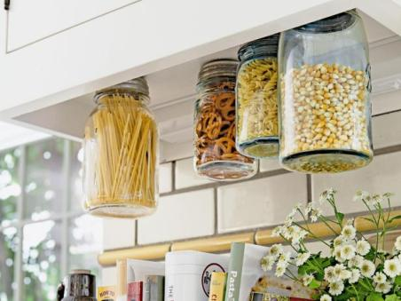 hanging storage jars via hgtv