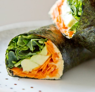 nori veggie wraps via a house in the hills