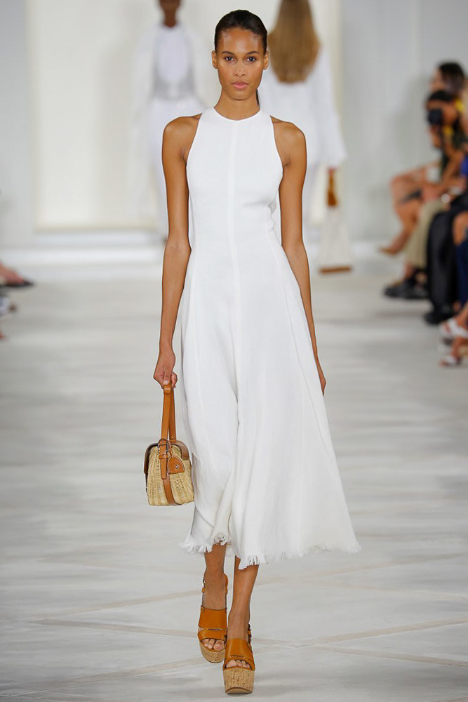 ralph lauren white dress