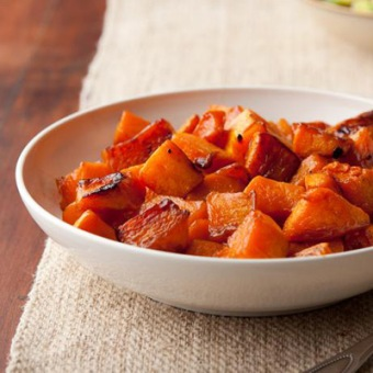 caramelized butternut squash via ina garten