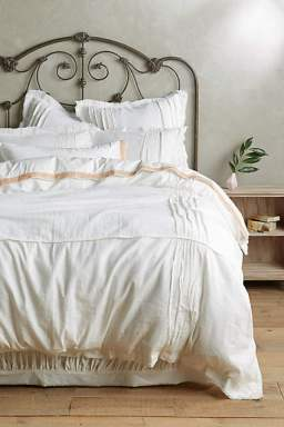 anthropologie white daloni duvet