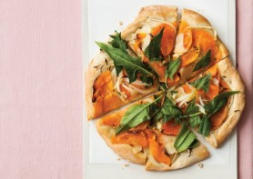 butternut squash pizza via vegetarian times