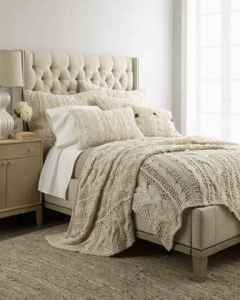horchow micah cable-knit bedding