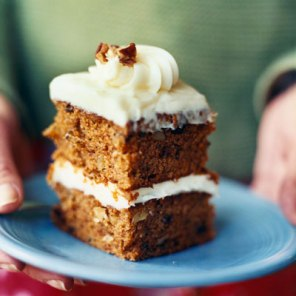 pumpkin carrot cake via cooking light
