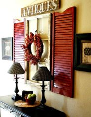 red and brown entryway via hometalk