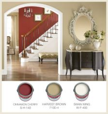 red and brown pain options via colorfully behr