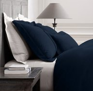 rh washed velvet bedding collection