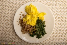 scrambled eggs w/greens & grains via cook for your life