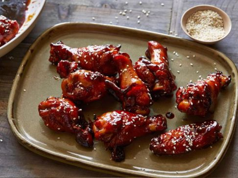 sticky honey soy chicken wings