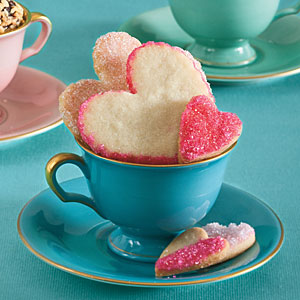 sweetheart sugar cookies via southern living