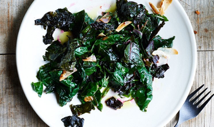 sauteed swiss chard breakfast greens via bon appetit
