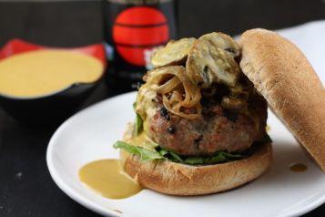 umami turkey burger via food52