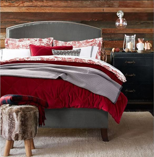 velvet comforter and sham via pottery barn2