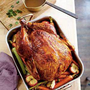 apple bourbon turkey via southern living