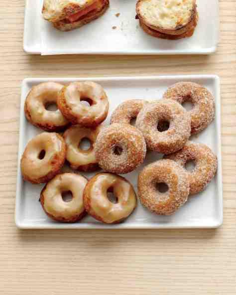apple cider doughnuts via martha stewart
