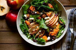 autumn harvest salad with maple balsamic vinaigrette via food52