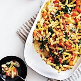 bacon and butternut pasta via cooking light