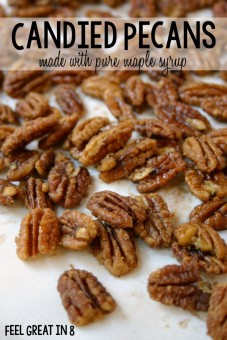 candied pecans with maple syrup via feelgreatin8