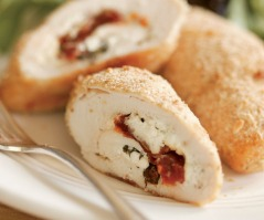 chicken roulades stuffed goat cheese and sundried tomatoes via fine cooking