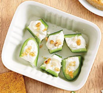 cucumber feta bites via cooking light