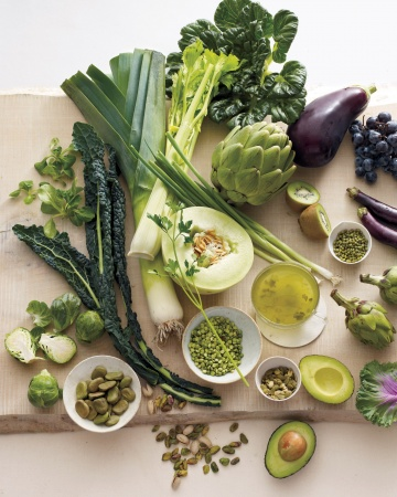 green colored foods via martha stewart
