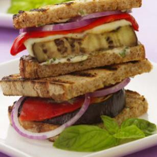 grilled eggplant panini via eating well