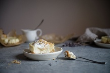 lavender goat cheese cheesecakes