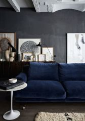 midnight blue couch via domaine home