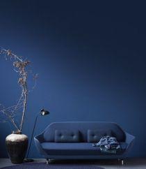midnight blue living room via designblog