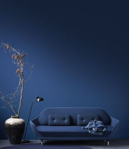 midnight blue living room via designblog