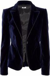 midnight blue velvet miu miu jacket via net a porter