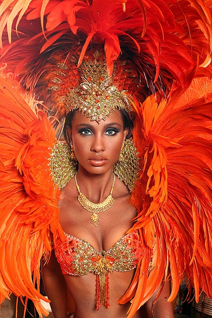 orange feather carnival queen