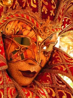 orange red masquerade