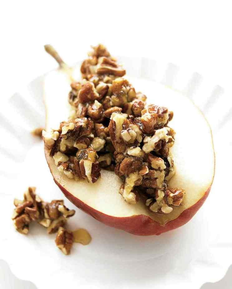 pear with honey and pecans via martha stewart