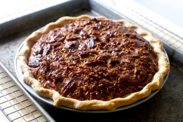 pecan pie via spoon fork bacon