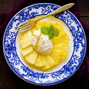 pineapple carppacio via food and wine