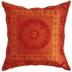 red gold pillow