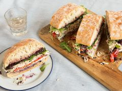 roast chicken pan bagnat provencal chicken with goat cheese via saveur