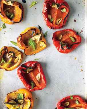 roasted bell peppers w/garlic and herbs
