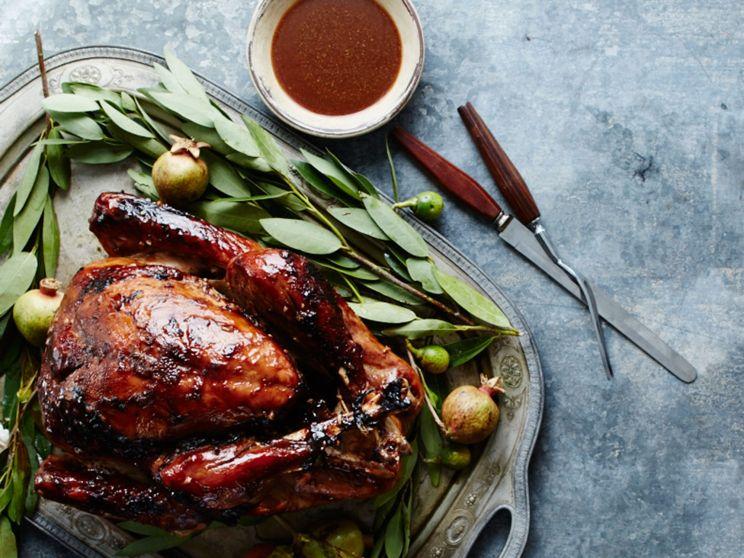 tamarind glazed roast turkey via saveur