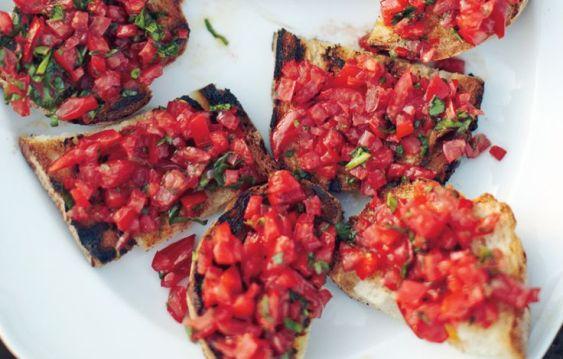 tomato crostini via bon appetit