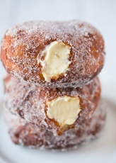 vanilla cream filled doughnuts via brown eyed baker