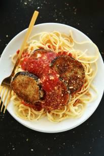 vegan eggplant parmesan via minimalist baker