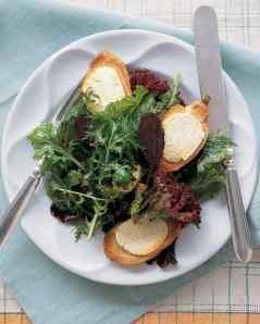 warm goat cheese salad via martha stewart
