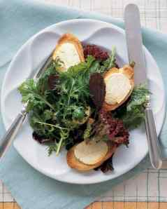 warm goat cheese salad via martha stewart
