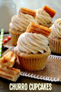 churro cupcakes via the domestic rebel
